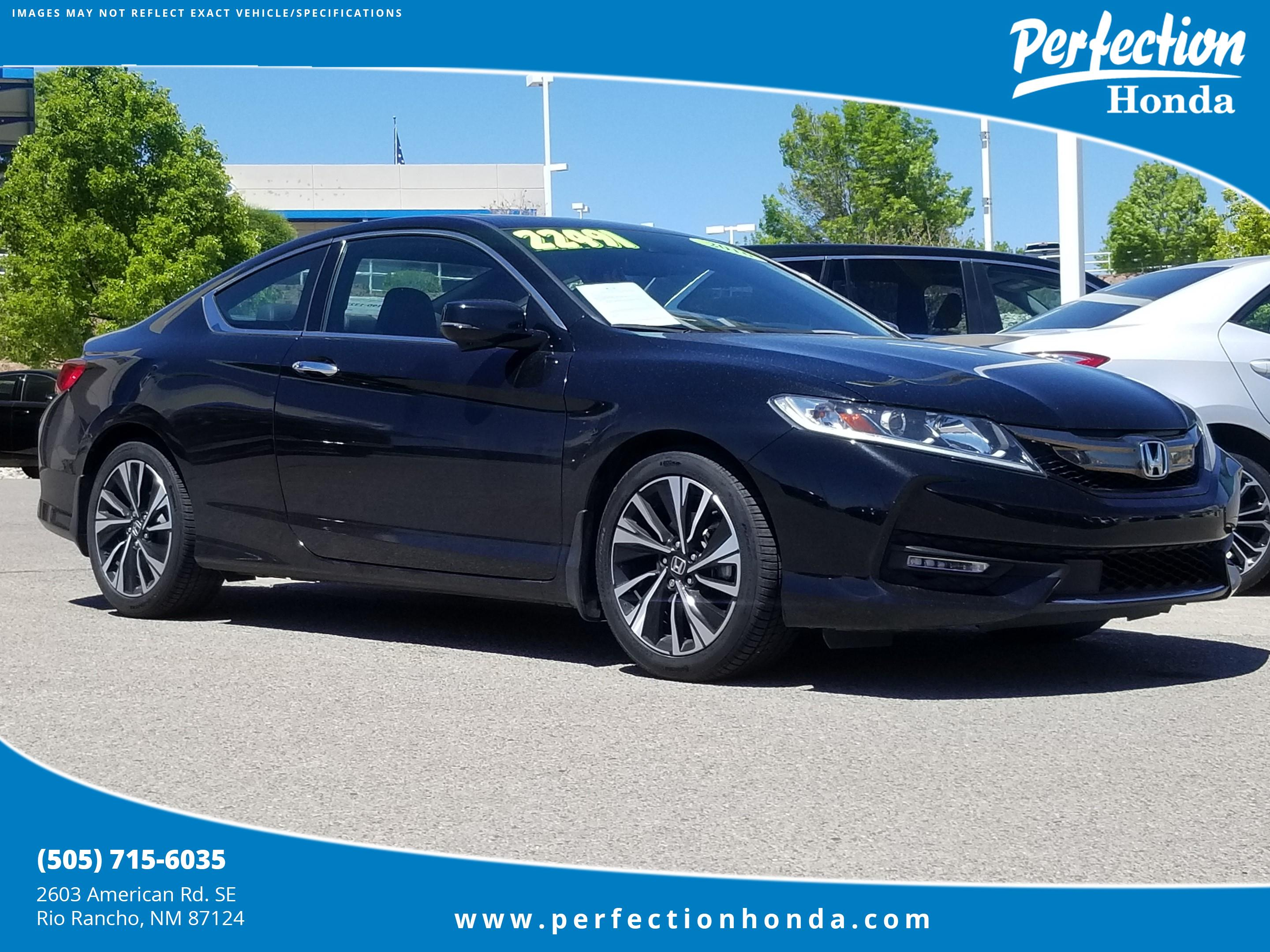 Certified Pre Owned 2016 Honda Accord Coupe Ex L